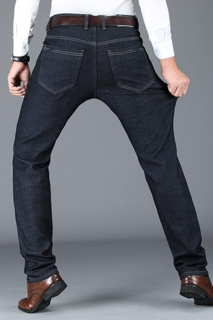 BROWON-Autumn-Thick-Jeans-for-Men-2020-New-Solid-Color-Business-Casual-Jeans-Loose-Straight-Soft-1