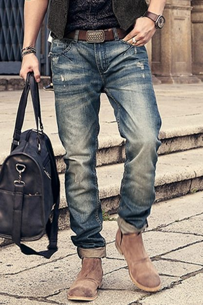 Brand-motorcycle-denim-biker-jeans-men-Slim-Fit-Washed-Vintage-Ripped-jeans-for-men-Elastic-Denim