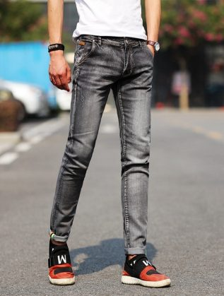Green-Black-Motorcycle-Denim-Biker-Jeans-Men-S-Skinny-2020-For-Spring-Autumn