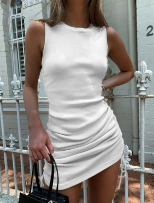 Summer-Bodycon-Dress-Women-Ruched-Dress-Women-Sleeveless-Sexy-Dresses-For-Women-Solid-Elegant-Knitted-Party